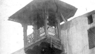 صورة دمشق 1850 – المدرسة الشاذبكلية في حي القنوات