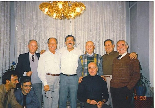 دمشق 1990- عدنان بوظو ورياضيون قدامى في منزل فؤاد حبش
