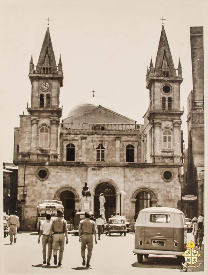 Aleppo 1968 - Aussicht auf die maronitische Kathedrale Mar Elias