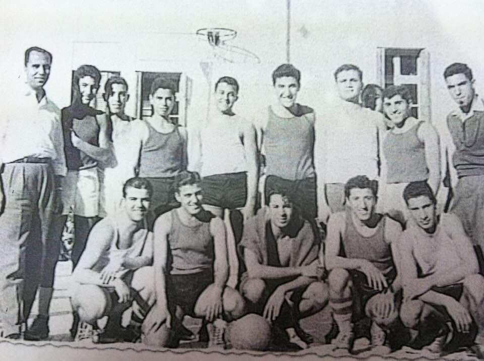 دمشق - مباراة بين ثانوية التجهيز الأولى وثانوية التجهيز الثانية عام 1959
