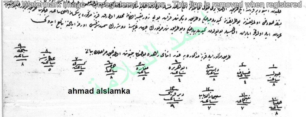 من الأرشيف العثماني – تقرير  جغرافي وزراعي عن منطقة الزور عام 1847