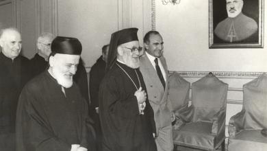 صورة البطريرك أغناطيوس الرابع هزيم مع البطريرك مار نصر الله صفير