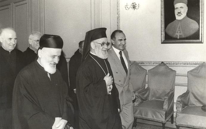 البطريرك أغناطيوس الرابع هزيم مع البطريرك مار نصر الله صفير