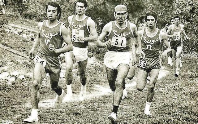 لقطة من اللقاء السوري - اللبناني في ألعاب القوى عام 1974