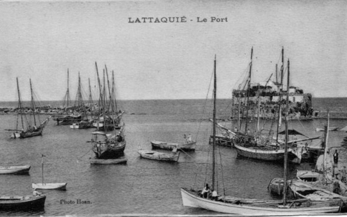 اللاذقية 1930 - ميناء اللاذقية القديم