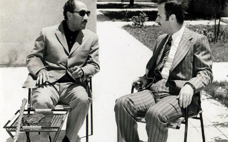 حافظ الأسد  وأنور السادات في مصر عام 1970