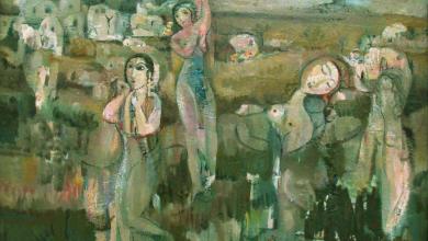 لوحة .. الأرض للفنان أحمد مادون  (1)