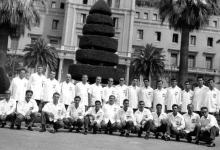 الفريق السوري لكرة السلة في برشلونة عام 1955م