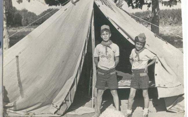 دير الزور 1975 - معسكر الطلائع في قرية الحسينية