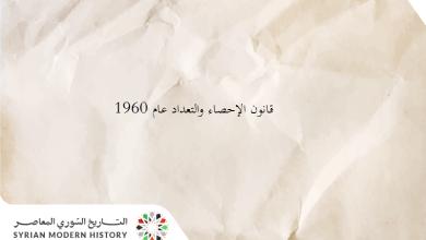 قانون الإحصاء والتعداد عام 1960