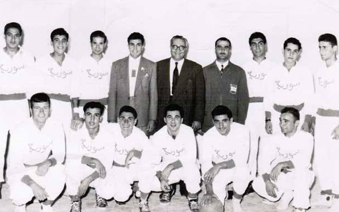 منتخب سورية بكرة السلة في الدورة العربية الثانية في بيروت 1957