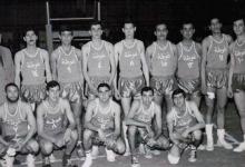 صورة فريق نادي الغوطة لكرة السلة عام 1967 بطل دمشق