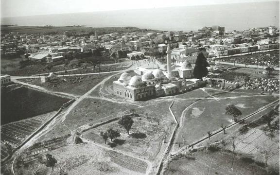 جبلة - صورةٌ جوِّيَّةٌ  للمدينة في شهر آذار 1939م