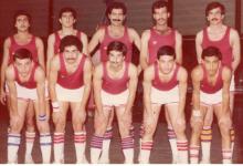 فريق نادي الوحدة لكرة السلة عام 1980