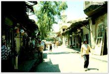 دمشق 1978 - حي سوق ساروجة ومئذنة مسجد الورد