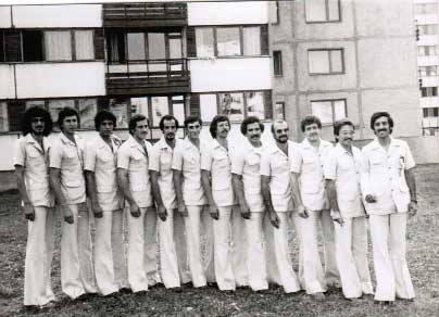 صورة منتخب كرة السلة السوري المشارك في أسبوع الجامعات صوفيا 1977