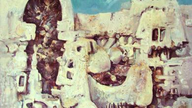لوحة معلولا  للفنان أحمد مادون (5)