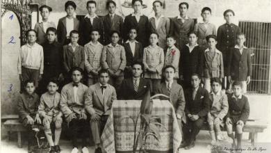 طلاب في إعدادية القديس نيقولا في حلب عام 1931م