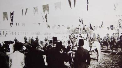 دمشق  1898–  الإمبراطور الألماني فيلهلم الثاني في ساحة المشيرية العسكرية  (4)