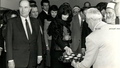 زيارة الرئيس الفرنسي فرانسوا ميتيران للمسجد الأموي في دمشق 1984