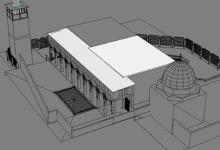 رسم هندسي للمدرسة الشامية البرانية الكبرى (3)