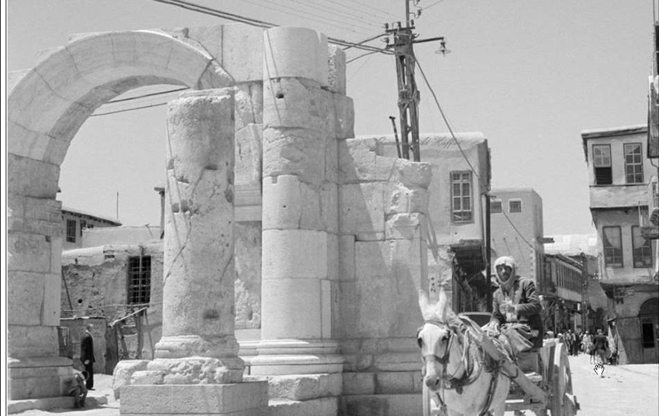 دمشق - القوس الروماني 1953