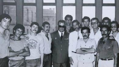 أحمد يونس مدرب المنتخب العسكري لكرة السلة عام 1979