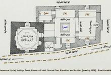 دمشق 1908 - المدرسة والتربة الحافظية .. مخطط توضيحي (2)