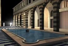 دمشق – صحن المدرسة الشامية الكبرى (5)