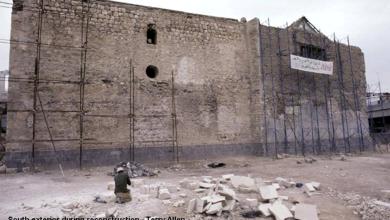 دمشق – واجهة الجنوبية للمدرسة الشامية الكبرى أثناء عمليات الترميم  (29)