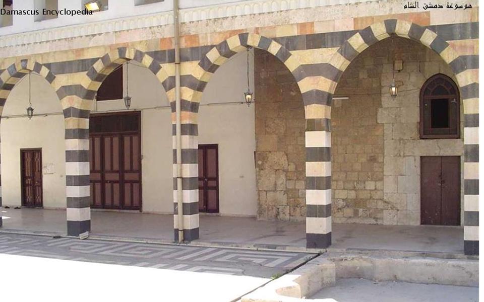 دمشق –  صحن المدرسة الشامية الكبرى و حرم بيت الصلاة (9)