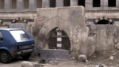 صورة دمشق – مدخل المدرسة الشامية الكبرى قبل الترميم  (25)