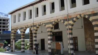 دمشق –  الواجهة الشمالية الكبرى للمدرسة الشامية (4)