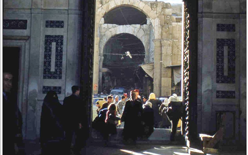 دمشق - باب المسجد الأموي عام 1959