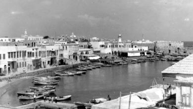 مرفأ الزوارق في جزيرة أرواد عام 1957