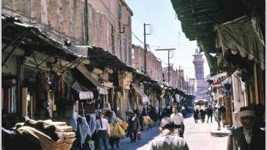 دمشق 1961-  مدخل سوق مدحت باشا