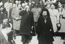صيدنايا عام 1957 - شكري القوتلي والبطريرك مكاريوس