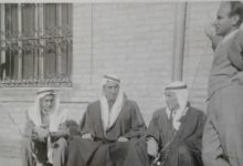 صورة حسين العجيلي والشيخ أنور الراكان ورئيس بلدية الرقة