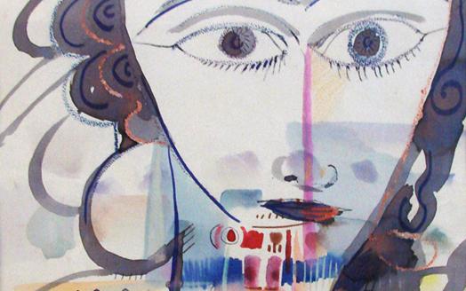 الوجه .. لوحة للفنان أحمد مادون