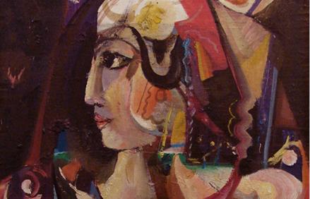 الملكة زنوبيا .. لوحة للفنان أحمد مادون