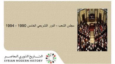صورة مجلس الشعب في سورية – الدور التشريعي الخامس 1990 – 1994