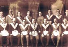صورة أعضاء في محفل قاسيون الماسوني بدمشق في العشرينيات
