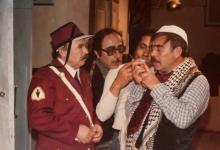 صورة محمد طرقجي ومحمد العقاد في مسلسل وادي المسك عام 1982