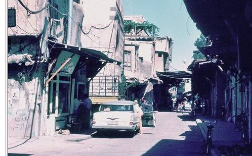 دمشق 1983- سوق ساروجة ومئذنة مسجد الورد