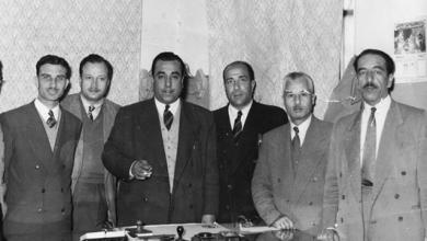 صورة موفق البقاعي في وزارة الداخلية عام 1956