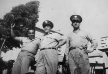 موفق البقاعي مع بعض الضباط من أقرانه في وزارة الداخلية عام 1955