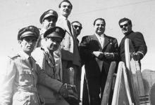 صورة موفق البقاعي في مطار المزة في الخمسينيات