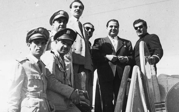 موفق البقاعي في مطار المزة في الخمسينيات