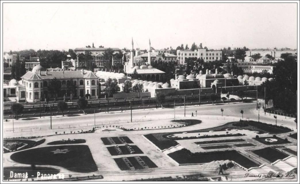 دمشق 1953 - حديقة التجهيز أو الجلاء ..وشعلة الجندي المجهول