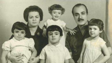 صورة الفنان عبد اللطيف فتحي مع عائلته